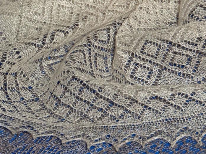 Вязание платков спицами с фото 195