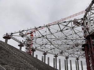 Каркас крыши cтадиона «Нижний Новгород» собран на 20%. ФОТОРЕПОРТАЖ