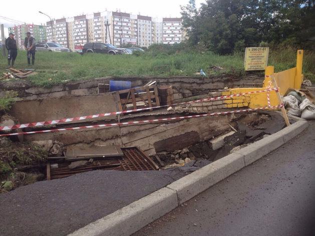Аварии подпорных стен в украине