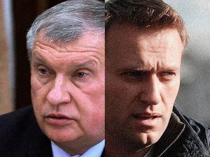 На Навального набросили сардельки, а корзинку с колбасой назвали привычным подарком Сечина