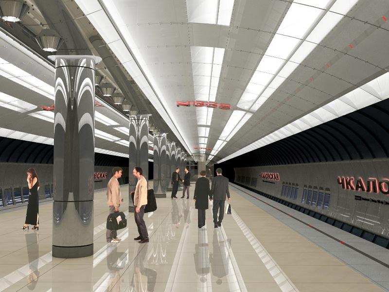 ...и монтаж металлической облицовки интерьеров новых станций екатеринбургского метро - Чкаловской и Ботанической.
