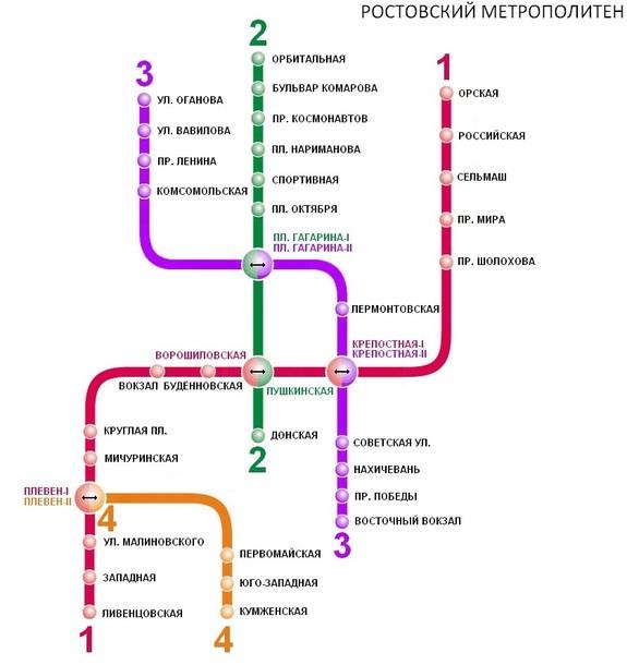 Карта метро Ростов-на-Дону