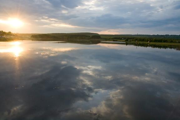 Одно из пяти озер комплекса
