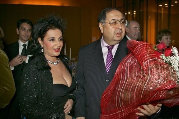 Алишер Усманов с супругой Ириной Винер