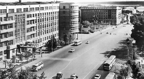 Красный проспект в 50-е годы