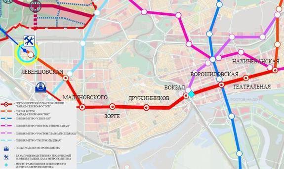 Первая линия ростовского метро
