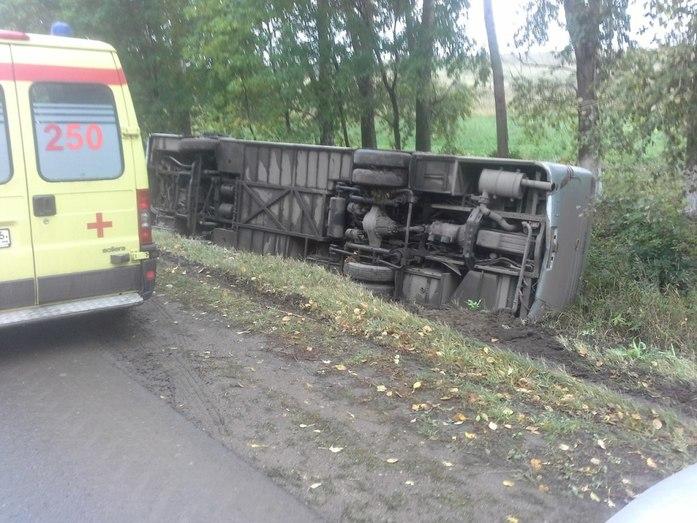 В Татарстане опрокинулся рейсовый автобус 1
