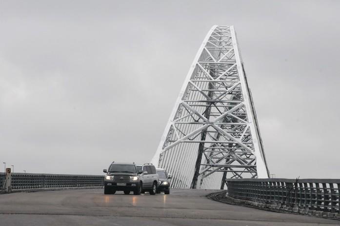 Как Шанцев и пообещал. Первый автомобиль проехал по Борскому мосту-дублеру 4