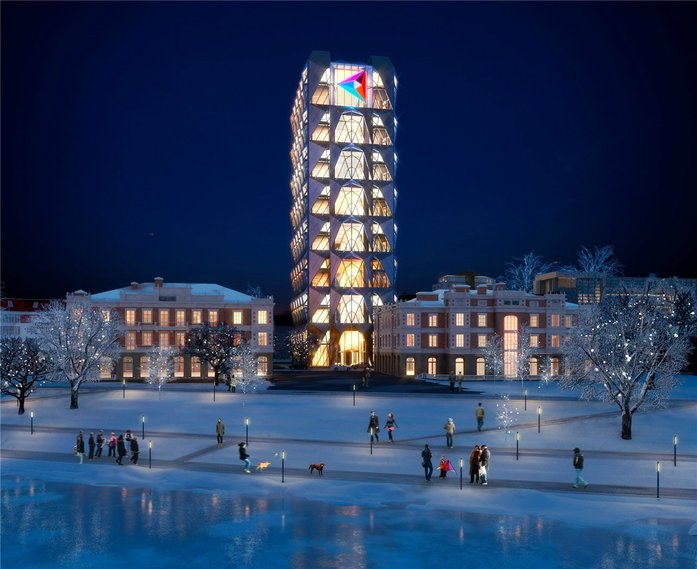 Изнанка штаб-квартиры РМК: Как строят первый в России объект Нормана Фостера / ФОТО 7