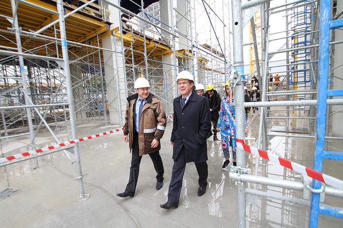 Изнанка штаб-квартиры РМК: Как строят первый в России объект Нормана Фостера / ФОТО 10