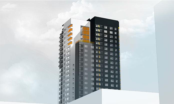 Офисник в центре города превратят в отель и подопрут башней 2