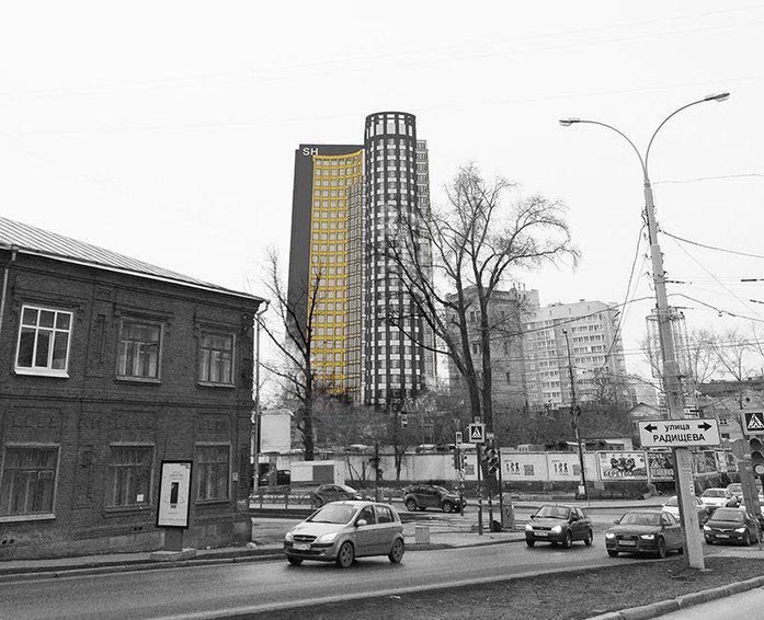 Офисник в центре города превратят в отель и подопрут башней 1