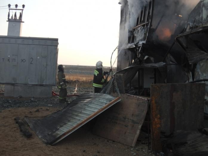 На территории Михеевского ГОКа группы РМК произошел крупный пожар 2
