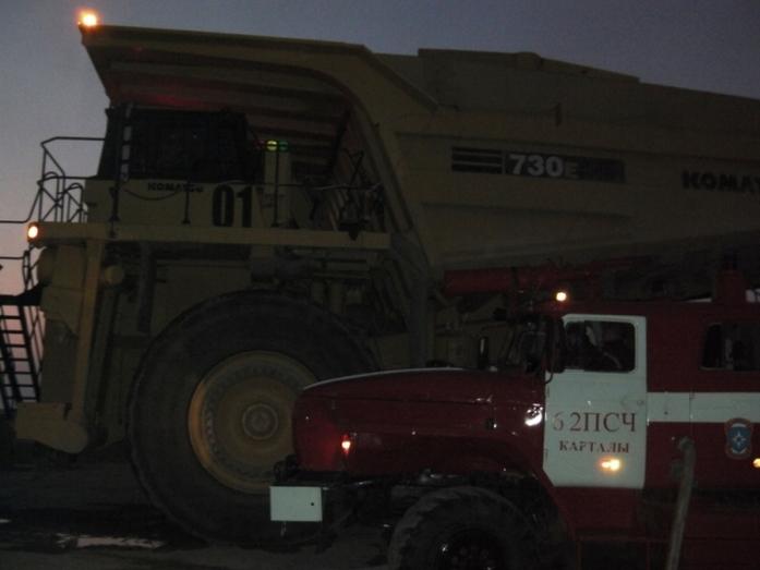 На территории Михеевского ГОКа группы РМК произошел крупный пожар 1