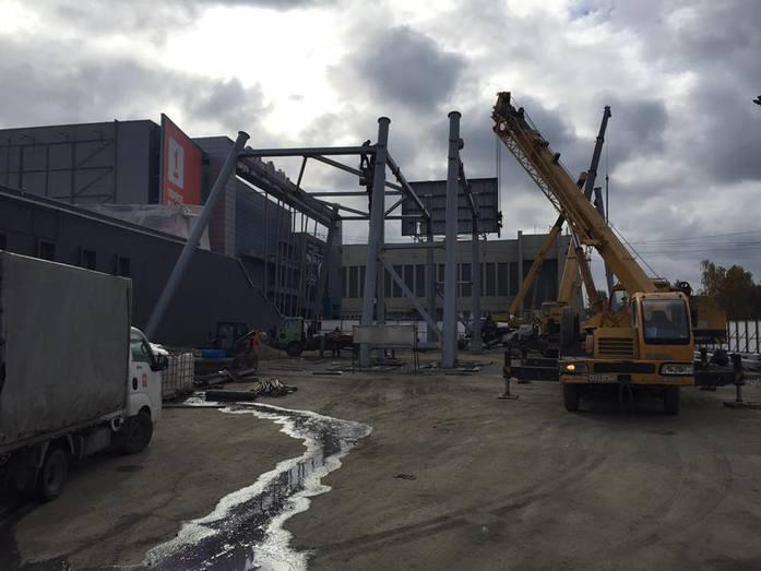 Возле КРК «Мегаполис» началось строительство гигантского колеса обозрения 1