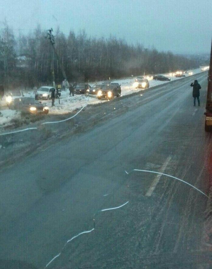 В Казани гололедица вызвала транспортный коллапс, аэропорт закрыт //ФОТО 1