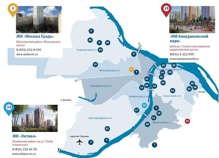 Рейтинг застройщиков недвижимости в Нижнем Новгороде 1