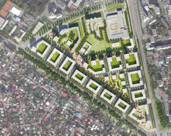 На месте Цыганского поселка появится новый район с башнями и «урбан-виллами» 1