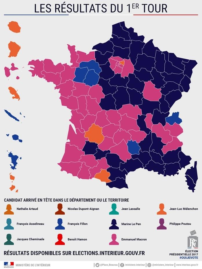 Выборы во Франции. Центрист Макрон опередил националистку Ле Пен в первом туре: главное  1