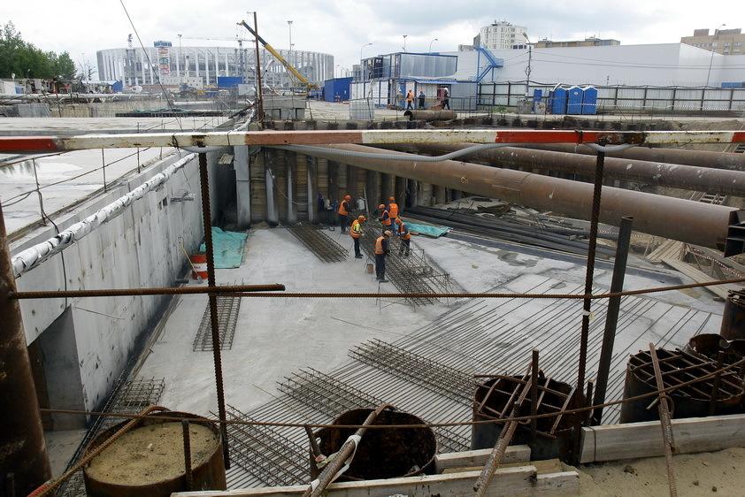 Новая станция метро в Нижнем Новгороде готова на 68%. ФОТО 2
