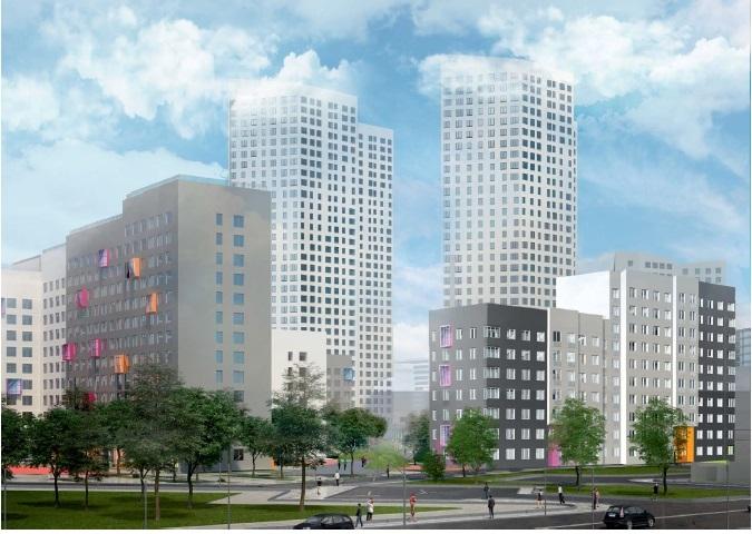 Фиолетовый, оранжевый, терракот. В Екатеринбурге построят два разноцветных ЖК 2