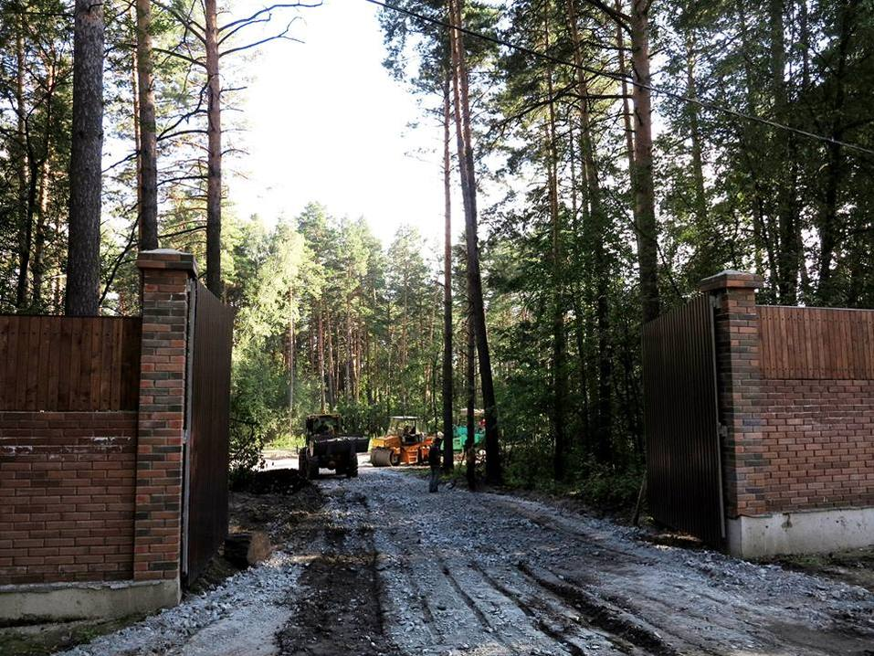 В Заельцовском бору появился забор, за которым идет расчистка территории под коттеджи 1