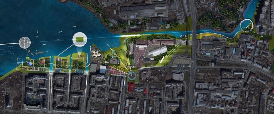 «Через сто лет это будет центр города». Градсовет выбрал проект набережной пруда на ВИЗе 6