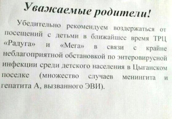 Энтеровирусный маркетинг: в Екатеринбурге отговаривают посещать ТЦ «МЕГА» и «Радуга-парк» 1