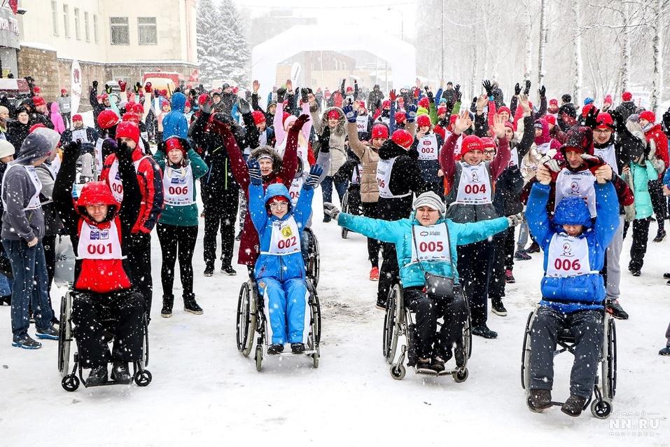 Первый инклюзивный дружеский забег «Первый снег» прошел в Нижнем Новгороде  7