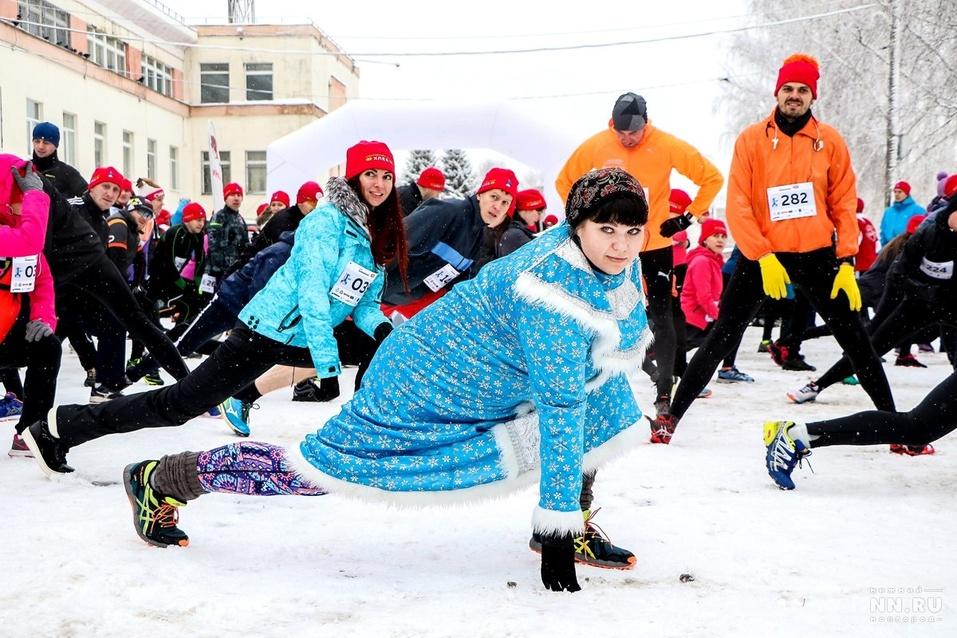 Первый инклюзивный дружеский забег «Первый снег» прошел в Нижнем Новгороде  8