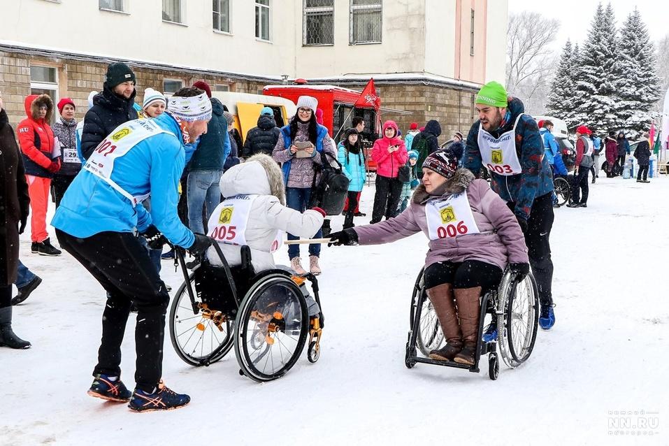 Первый инклюзивный дружеский забег «Первый снег» прошел в Нижнем Новгороде  9
