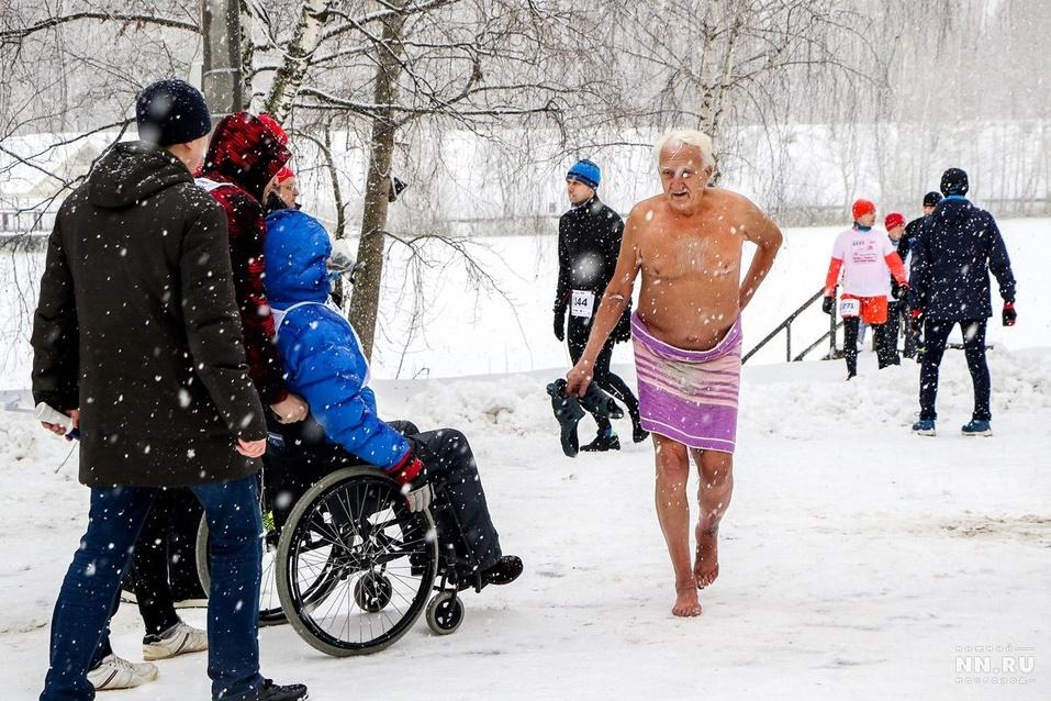 Первый инклюзивный дружеский забег «Первый снег» прошел в Нижнем Новгороде  10