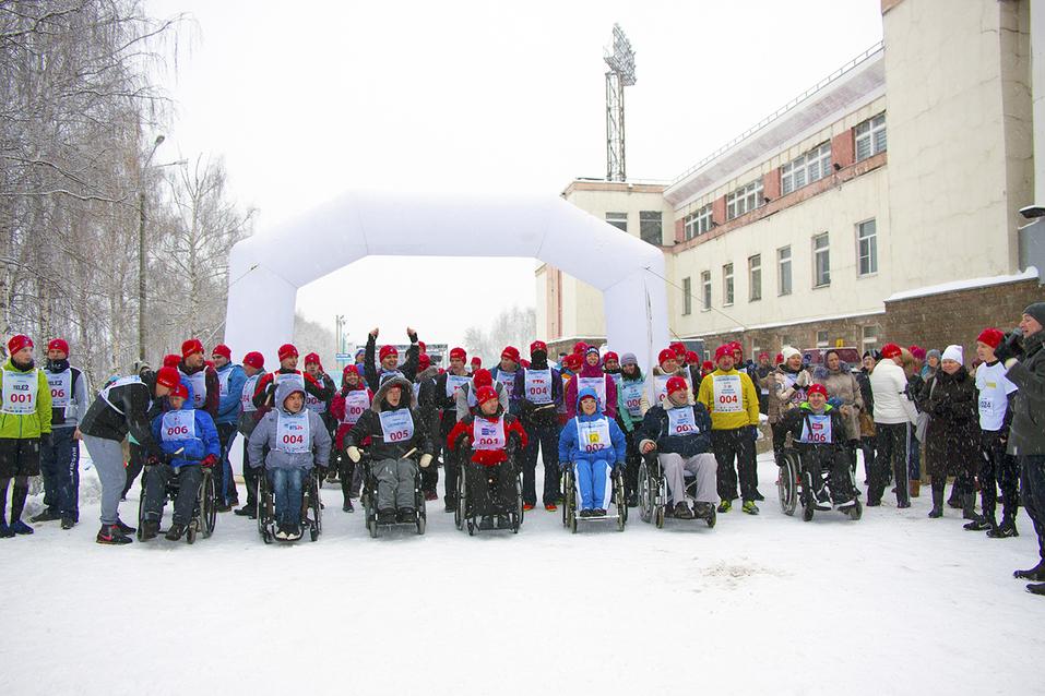 Первый инклюзивный дружеский забег «Первый снег» прошел в Нижнем Новгороде  15