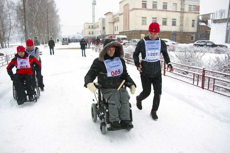 Первый инклюзивный дружеский забег «Первый снег» прошел в Нижнем Новгороде  16