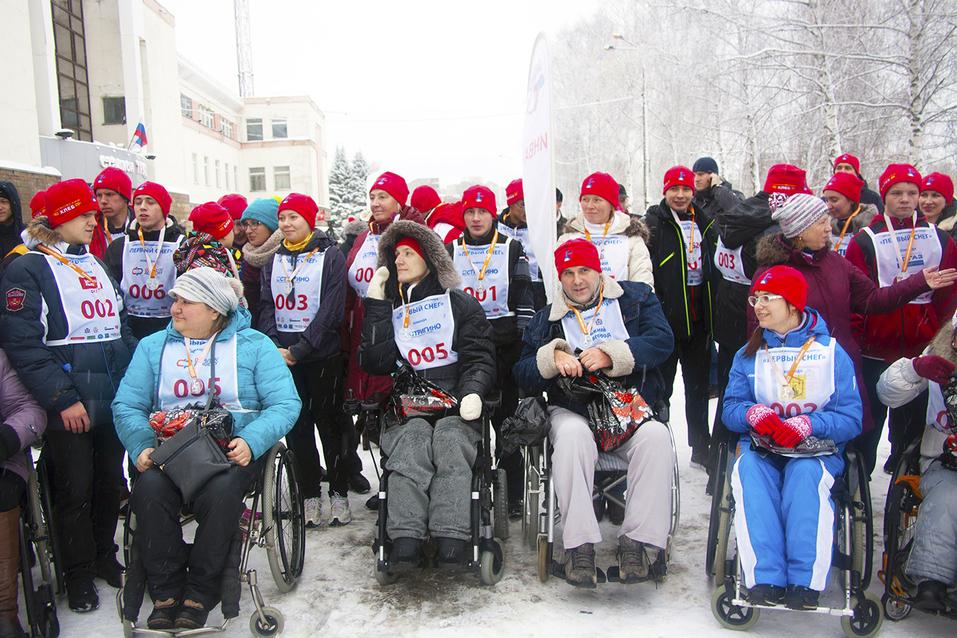 Первый инклюзивный дружеский забег «Первый снег» прошел в Нижнем Новгороде  20