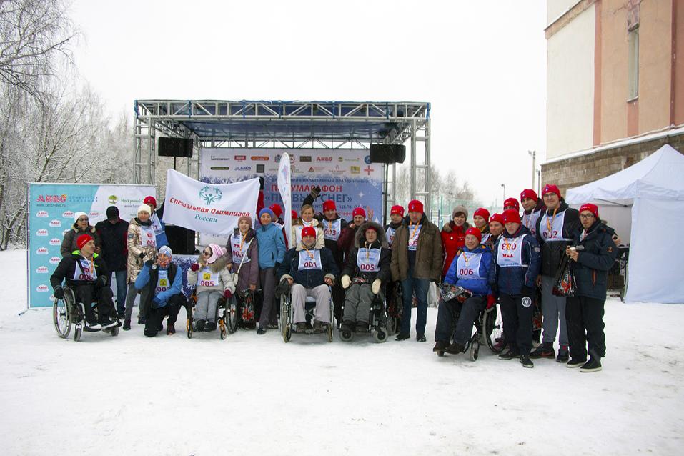 Первый инклюзивный дружеский забег «Первый снег» прошел в Нижнем Новгороде  21