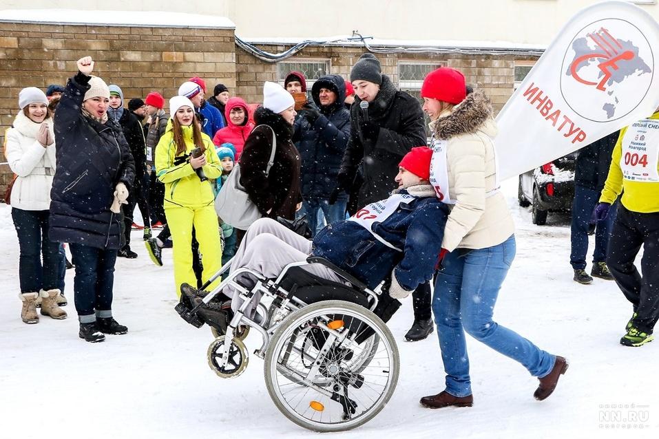 Первый инклюзивный дружеский забег «Первый снег» прошел в Нижнем Новгороде  17