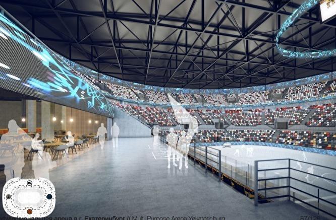 УГМК впервые показала, как будет выглядеть их ледовая мега-арена на берегу Исети / ЭСКИЗЫ 3