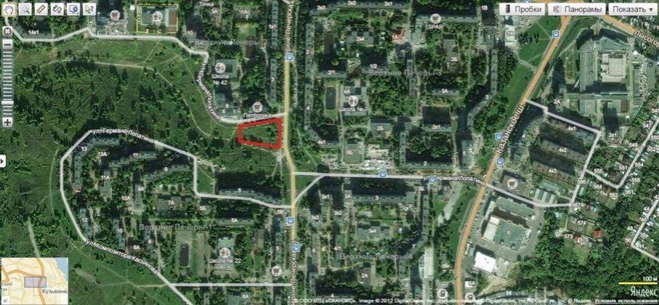 В Нижнем Новгороде выставлен на продажу участок в Лопатинском овраге 1