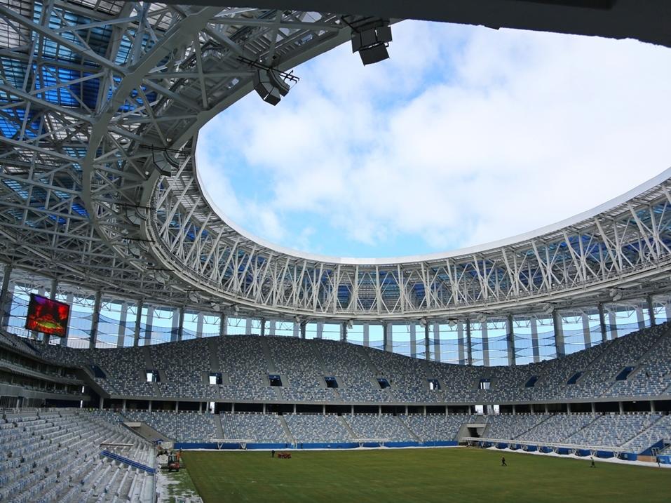 Делегация FIFA оценила ход подготовки «Стадиона Нижний Новгород» к ЧМ-2018  1