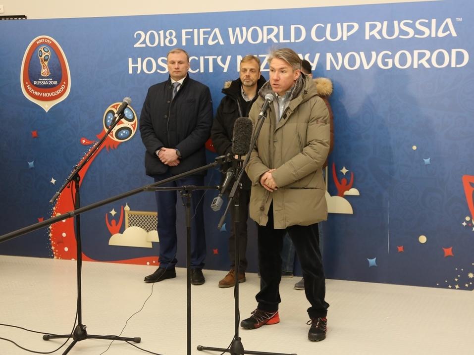 Делегация FIFA оценила ход подготовки «Стадиона Нижний Новгород» к ЧМ-2018  2