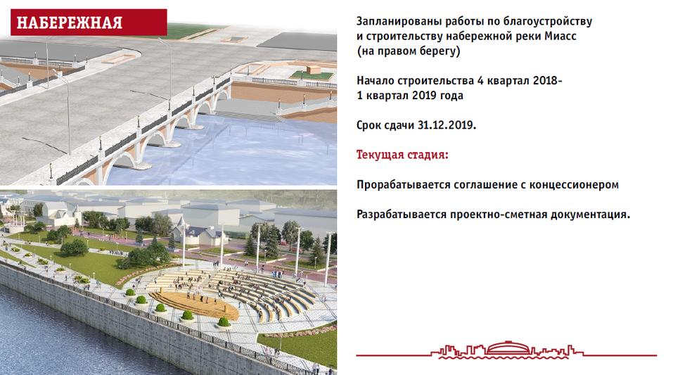 В реконструкцию набережной в Челябинске вложат 1,3 млрд руб. 1
