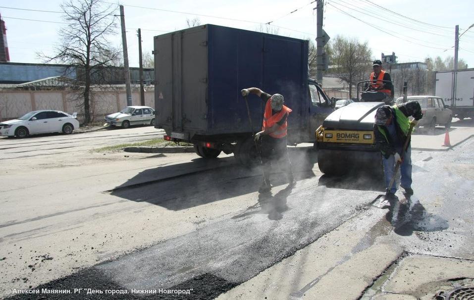 «Контроль за ремонтом дорог будет жестким». Мэр Нижнего Новгорода проверил ямочный ремонт 3