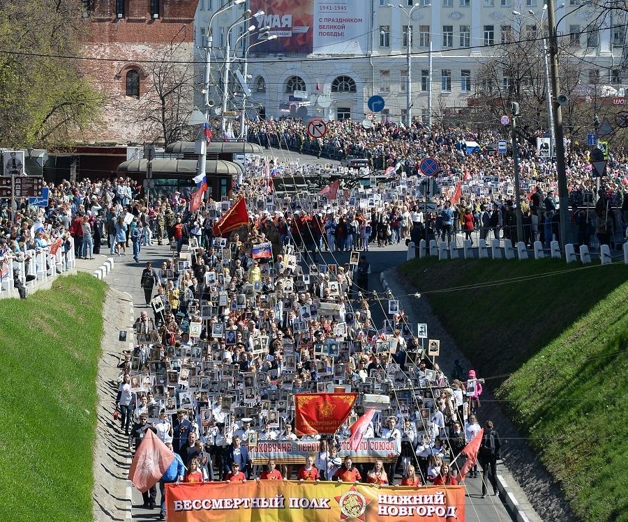 «Бессмертный полк» в Нижегородской области собрал 120 тыс. человек 2