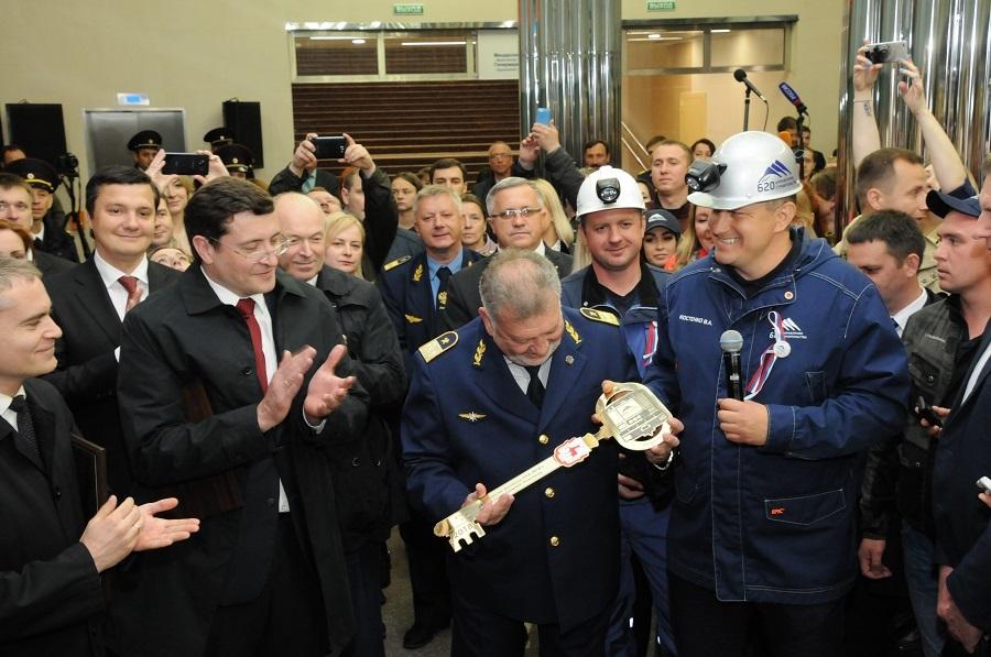 «Это огромное событие». Глеб Никитин открыл станцию метро «Стрелка». ФОТО 2