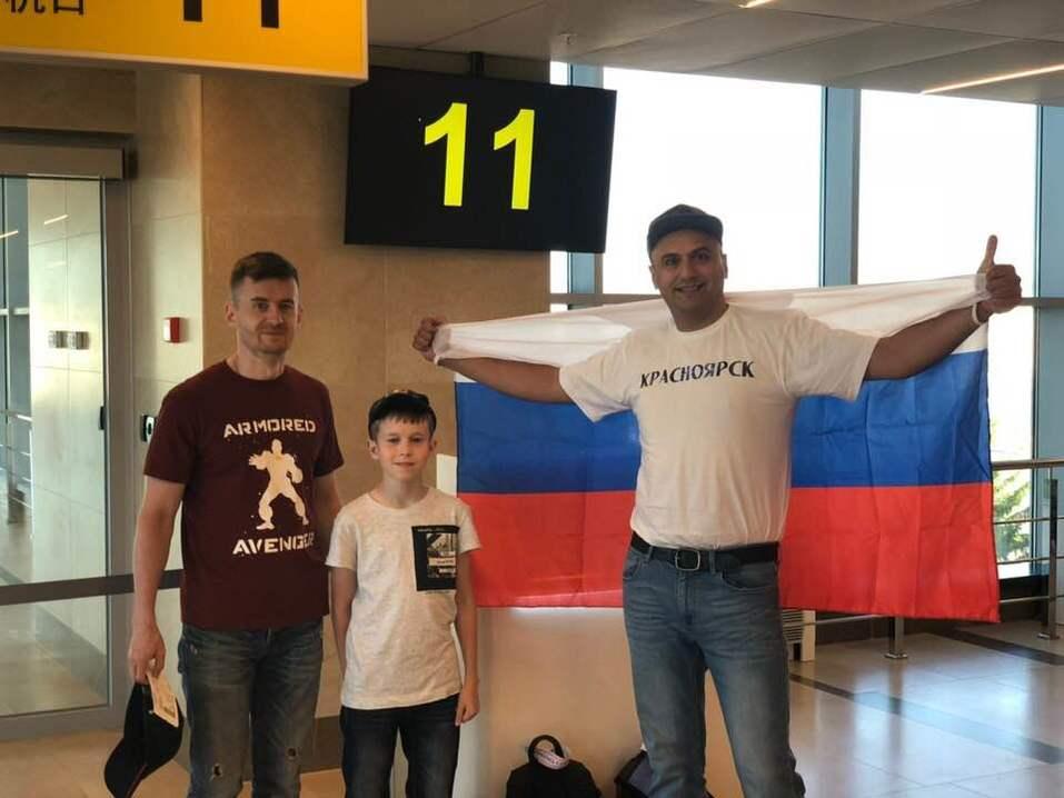 Как красноярцы за сборную России по футболу болели 4
