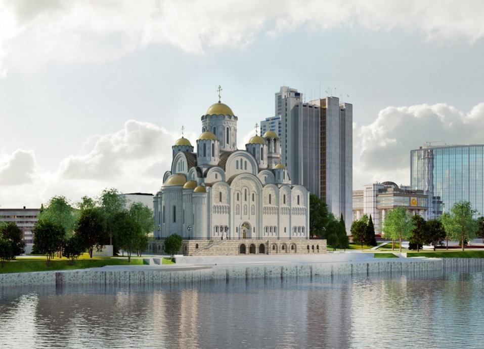66 метров в высоту. Храм св. Екатерины все-таки построят, но — у Драмтеатра / РЕНДЕРЫ 1