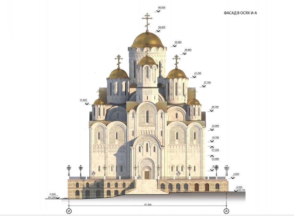 66 метров в высоту. Храм св. Екатерины все-таки построят, но — у Драмтеатра / РЕНДЕРЫ 3