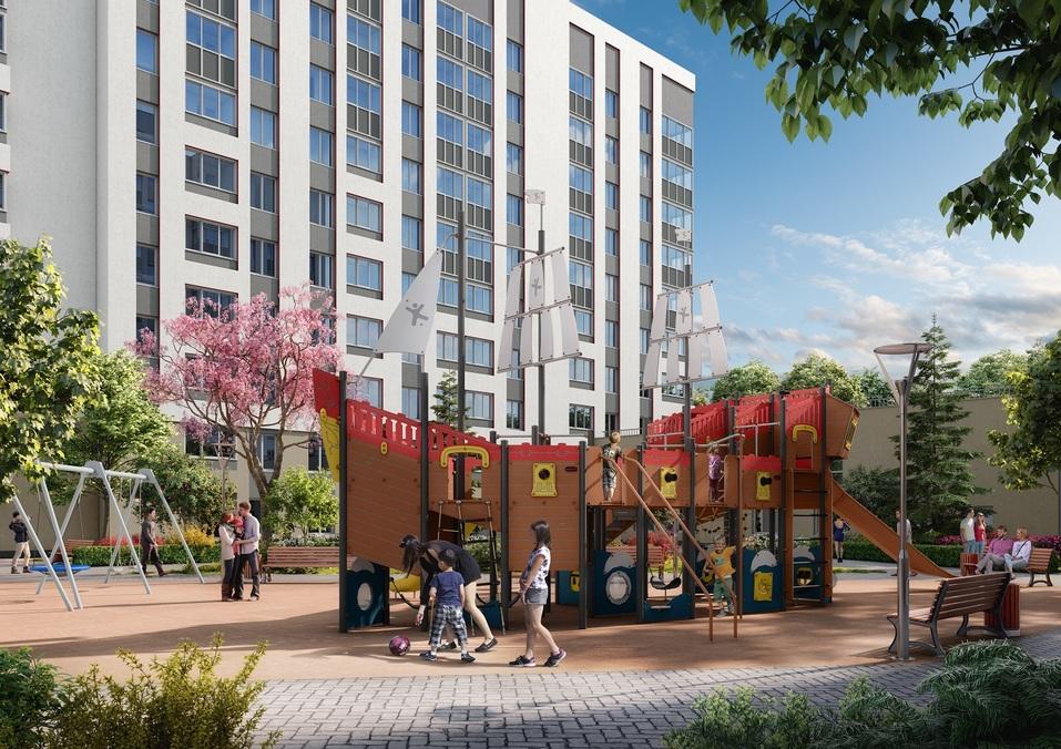 Отдых рядом с домом: как в Екатеринбурге строят квартал с парком, кораблем и набережной 4