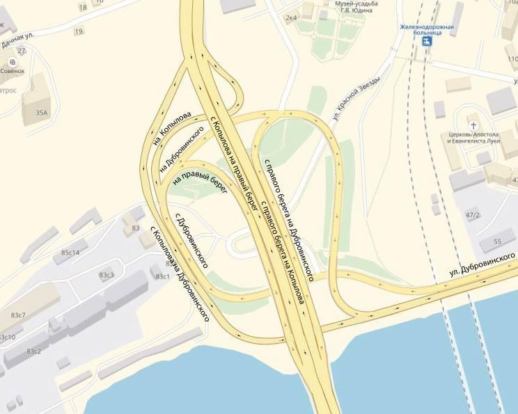 Опубликована схема движения по новой развязке Николаевского моста в Красноярске 1